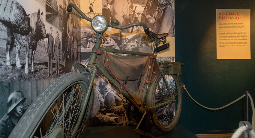 Military bike and photo of military