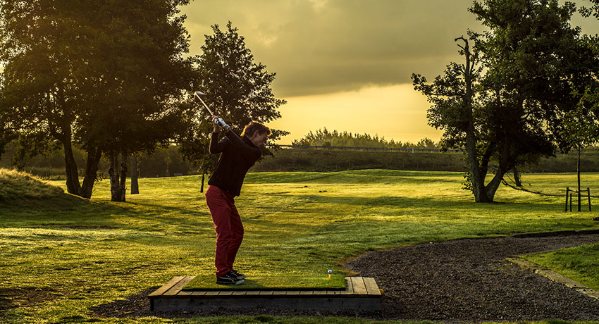 Golfer at Strandtorp golf club in Halmstad