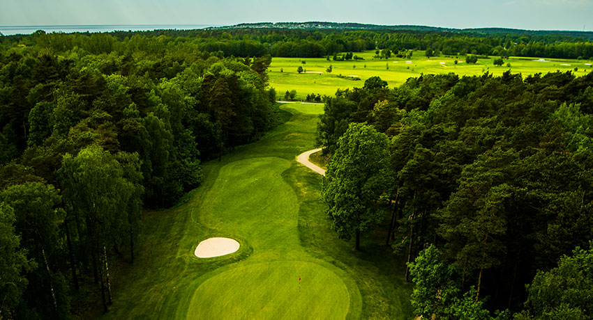Aerial view of Haverdal golf club