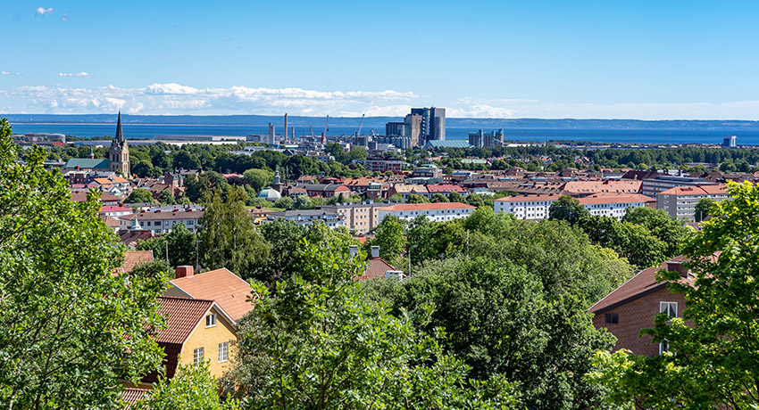 View of Halmstad from Galgberget