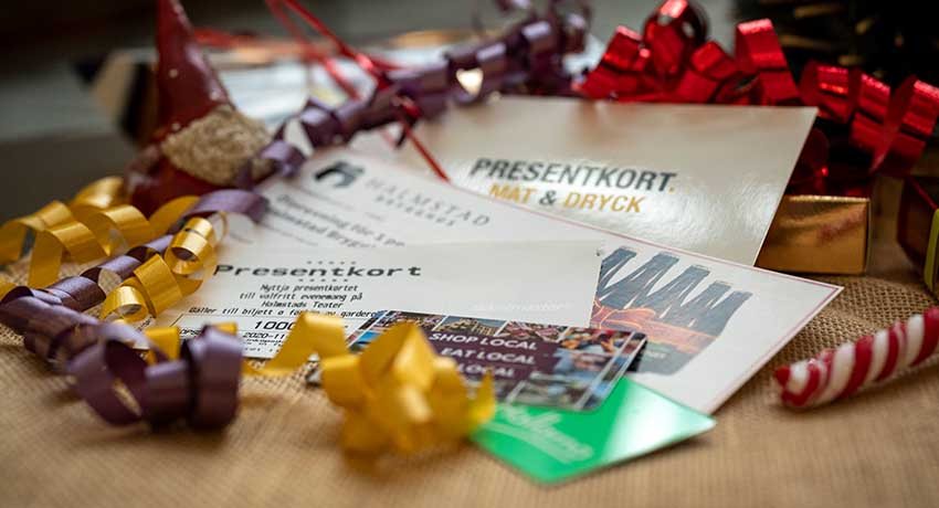 Presentkort i jul hos Halmstad Tourist Center